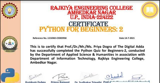 python programming certificate