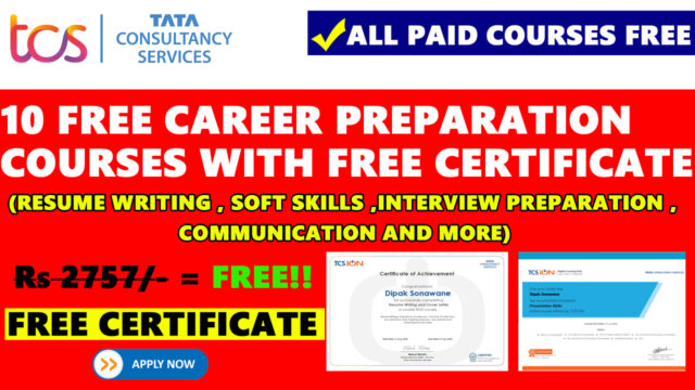 tcs free courses with certificate