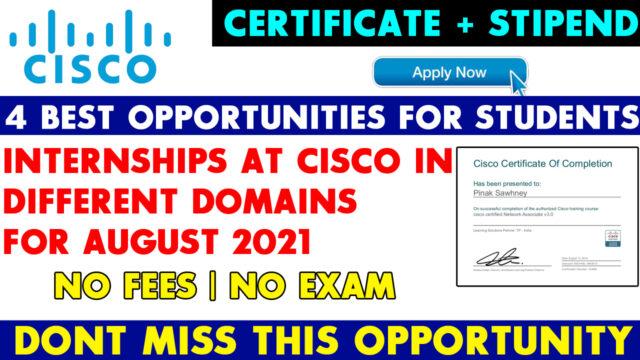 cisco internships