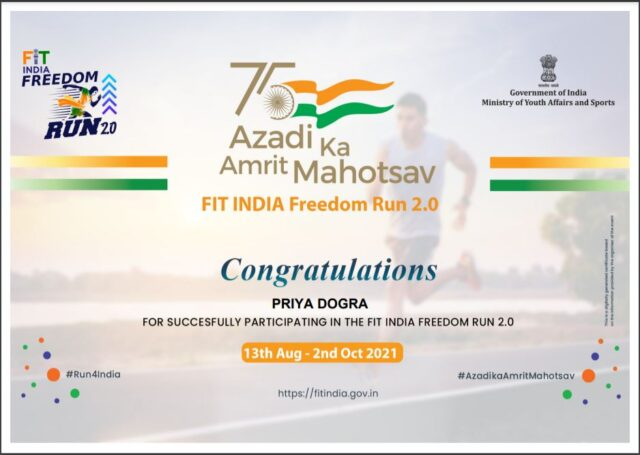 fit india freedom certificate
