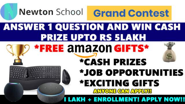 newton school contest