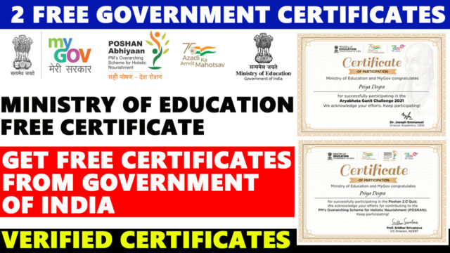free givernment certificate online