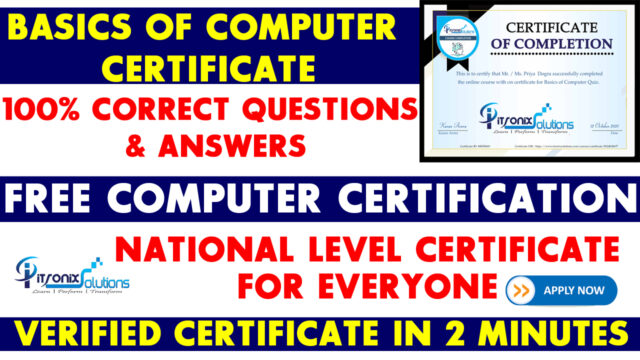basics of computer free certificate