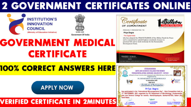 government medical certificate